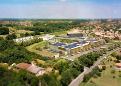 Construction du nouveau Lycée 1500 élèves Pibrac (31)