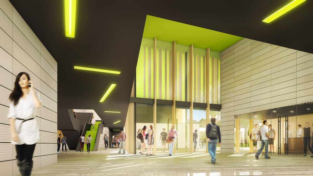 iam architectes Construction du nouveau Lycée 1500 élèves Pibrac (31)
