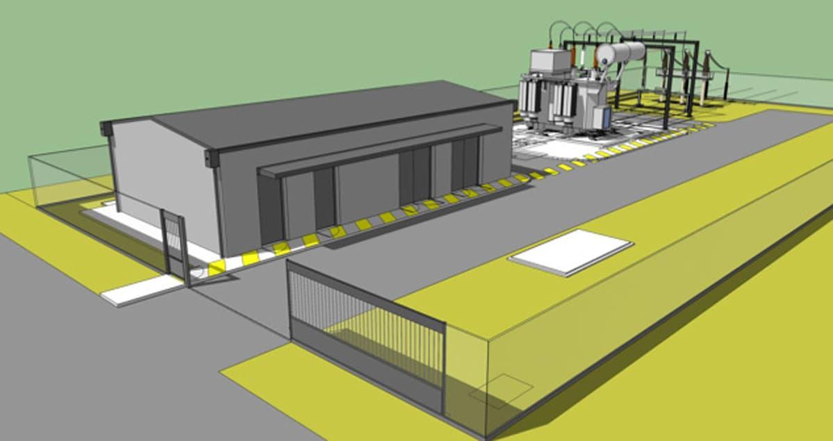 Réalisation d'une plateforme et d'un bâtiment de commande pour un transformateur 63 Kv Rion des Landes (40)