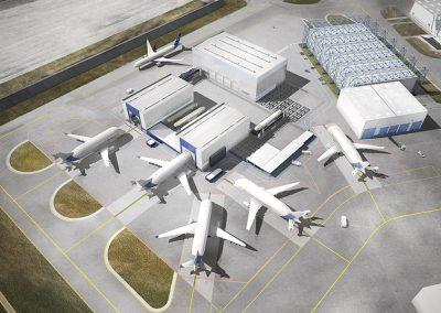 Projet NEW ILF – Construction du bâtiment de déchargement du BELUGA XL – Toulouse (31)