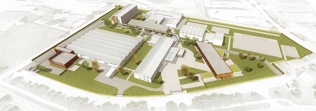 Merignac-2020-dassault aviation-iamiam-architectes-toulouse-extension-restructuration-lycee-professionnel-eugene-monte-colomiers-region-occitanie-architectes-sequences-edeis-gamma-vision-construction-bureaux-tertiaire