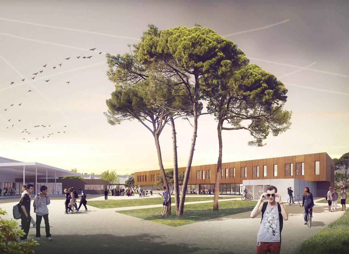 Merignac-2020-dassault iam-architectes-toulouse-extension-restructuration-lycee-professionnel-eugene-monte-colomiers-region-occitanieaviation-iam-architectes-sequences-edeis-gamma-vision-construction-bureaux-tertiaire